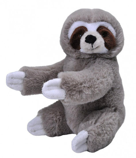 a photo of the product: Wild Republic knuffel luiaard Ecokins Mini junior 20 cm pluche grijs