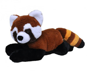 a photo of the product: Wild Republic knuffel panda junior 30 cm pluche rood