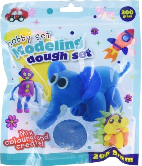a photo of the product: Free and Easy speelklei 200 gram blauw