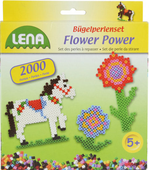 a photo of the product: Lena strijkkralenset Flower Power junior 2000 stuks