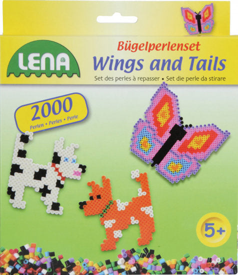 a photo of the product: Lena strijkkralenset Wings and Tails junior 2000 stuks