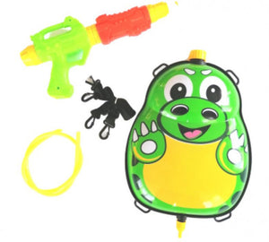 a photo of the product: Funny Toys waterpistool met tank 35,5 cm groen/geel 5-delig