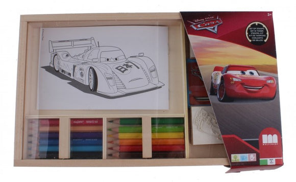 a photo of the product: Multiprint Cars kleurset 19-delig