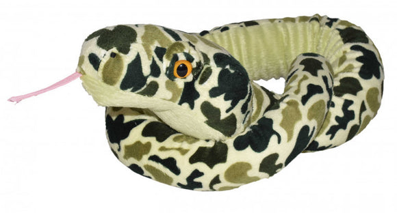 a photo of the product: Wild Republic knuffel Camo slang junior 137 cm pluche groen