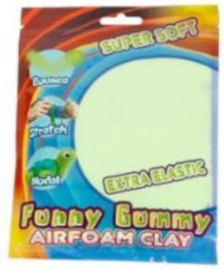 a photo of the product: Funny klei Gummy Airfoam junior 55 gram lichtgroen