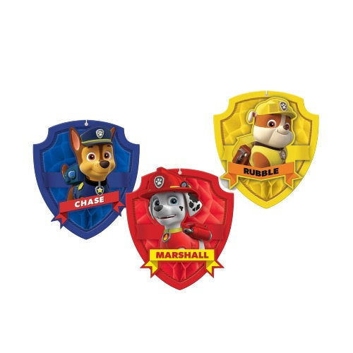 a photo of the product: Amscan feestdecoratie Honeycomb Paw Patrol 17 cm papier