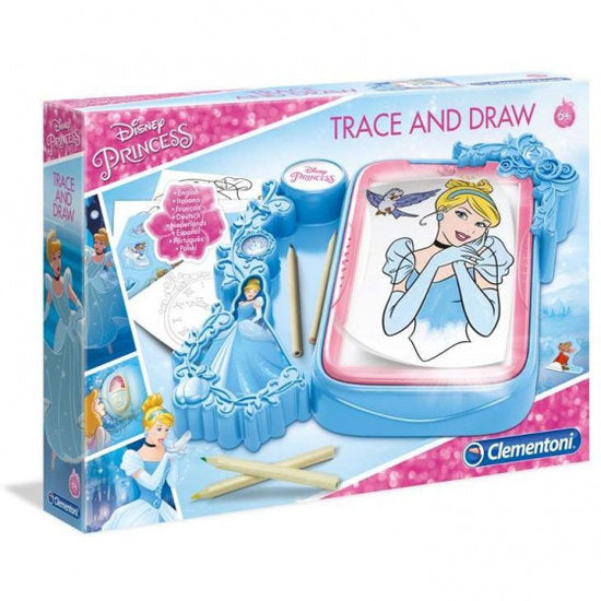 a photo of the product: Clementoni tekenset overtrekken Disney Princess blauw