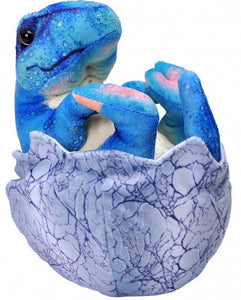 a photo of the product: Wild Republic knuffel Dinosauria baby T-Rex 20 cm pluche blauw