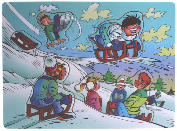 a photo of the product: TOM puzzel winter junior hout blauw 5 stuks
