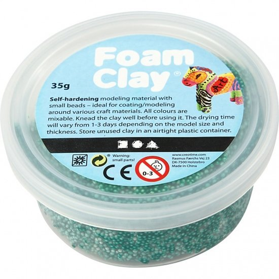 a photo of the product: Foam Clay klei donkergroen 35 gram (78954)