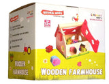 a third photo of the product: Gerardo's Toys boerderijhuis motoriekspel hout rood/bruin
