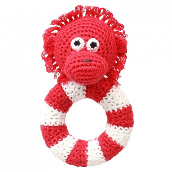 a photo of the product: natureZOO ringrammelaar orang-oetan gehaakt 14 cm rood