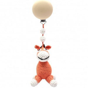 a photo of the product: natureZOO kinderwagenhanger ezel 20 cm oranje