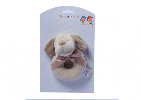 a photo of the product: Gamberritos ringrammelaar hond 12 cm bruin