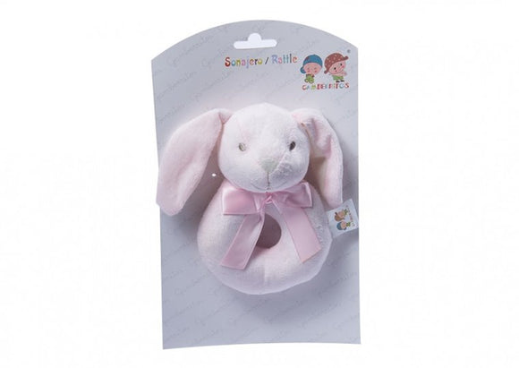 a photo of the product: Gamberritos ringrammelaar konijn 12 cm roze