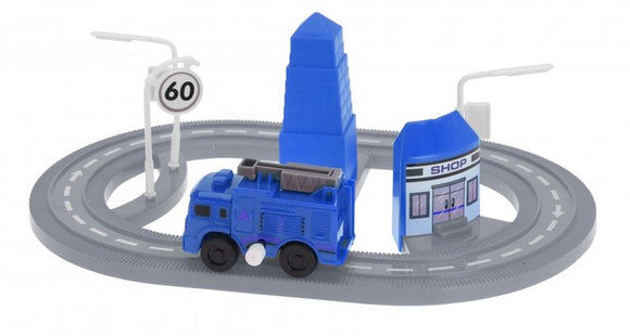 a photo of the product: Tender Toys autobaan 7-delig grijs