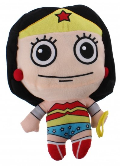 a photo of the product: DC Comics knuffel Wonderwoman pluche 25 cm blauw/geel