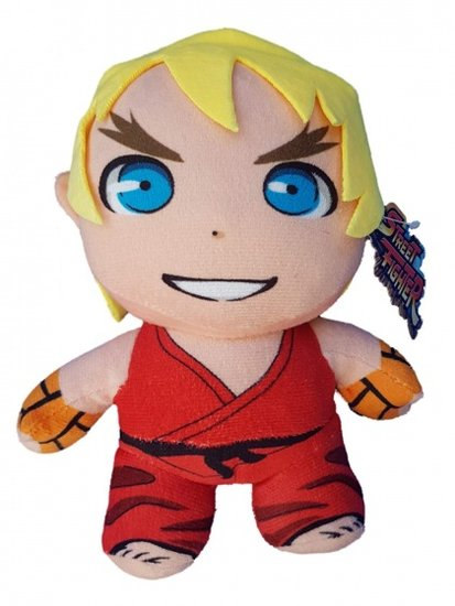 a photo of the product: Kamparo knuffel Street Fighter Ken rood 43 cm