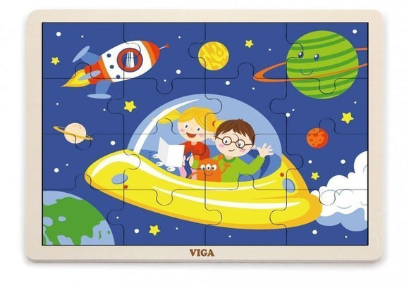 a photo of the product: Viga Toys legpuzzel ruimte 16 stukjes