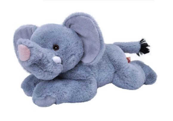 a photo of the product: Wild Republic knuffel olifant Ecokins junior 30 cm pluche blauw