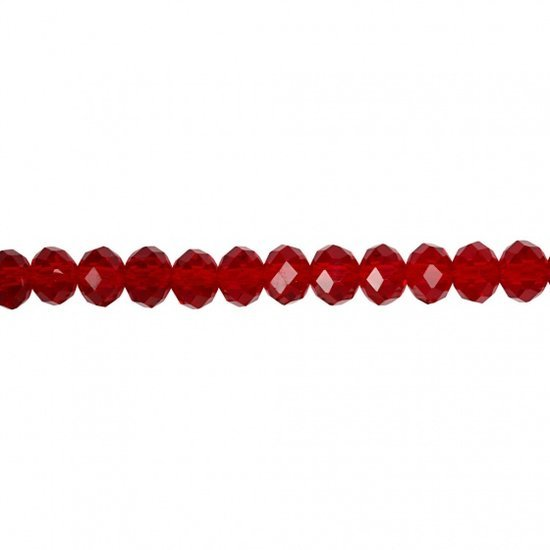 a photo of the product: Creotime facetkralen rood 6 mm 100 stuks