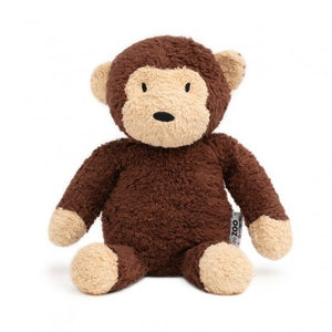 a photo of the product: natureZOO knuffeldier aap xl biologisch 30 cm bruin