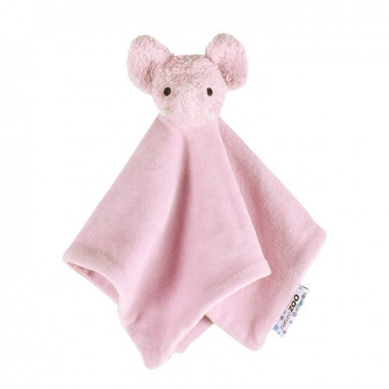 a photo of the product: natureZOO knuffeldoekje olifant biologisch 32 cm roze