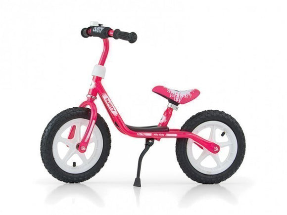 a photo of the product: Milly Mally loopfiets Dusty 12 Inch Junior Roze/Wit