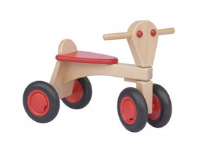 a photo of the product: Van Dijk Toys houten loopfiets Junior Rood