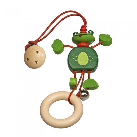 a photo of the product: Walter rammelaar Froggi hout 24 cm groen