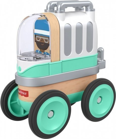 a photo of the product: Fisher-Price Wonder Makers camper 9 cm mintgroen 4-delig