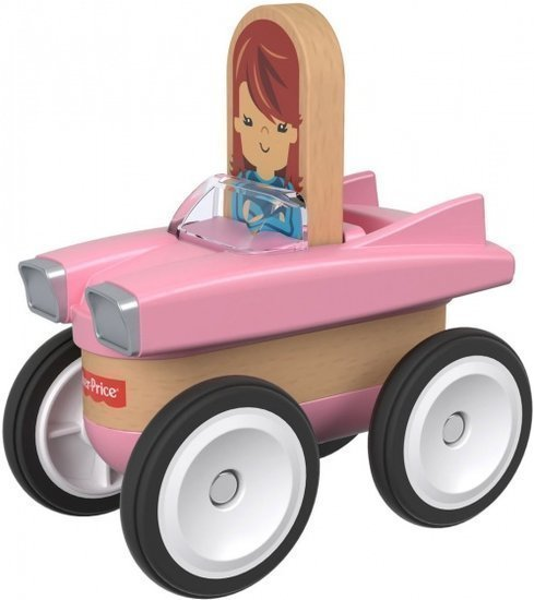 a photo of the product: Fisher-Price Wonder Makers auto 9 cm roze/blank 4-delig