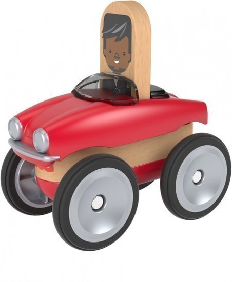 a photo of the product: Fisher-Price Wonder Makers auto 9 cm rood/blank 4-delig