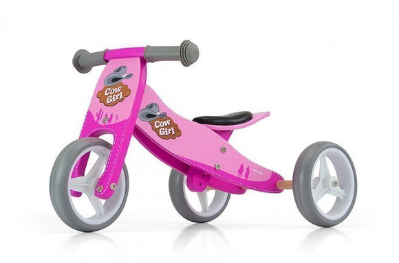a photo of the product: Milly Mally 2-in-1 loopfiets Jake cowgirl Meisjes Roze