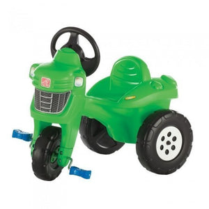 a photo of the product: Step2 traptractor 3 wielen groen