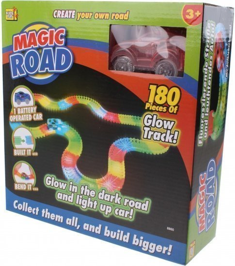 a photo of the product: Kids Fun racebaan Magic road rood 180-delig