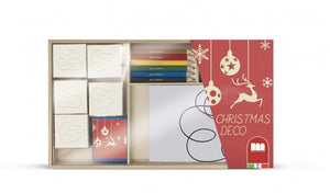 a photo of the product: Multiprint kleurset Christmas Deco hout 20-delig