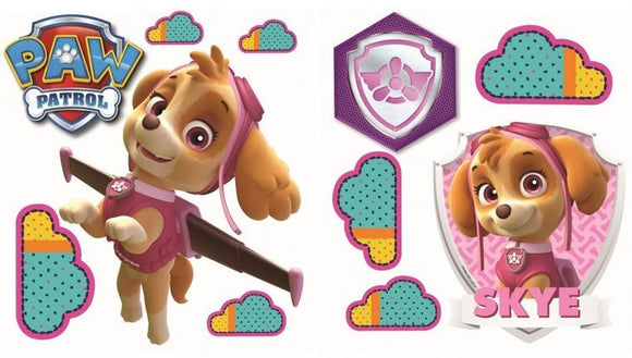 a photo of the product: Nickelodeon muurstickers Paw Patrol Skye 2 stickervellen