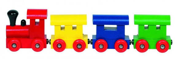 a photo of the product: Goki Houten Trein Helsinki Met Magneetkoppeling