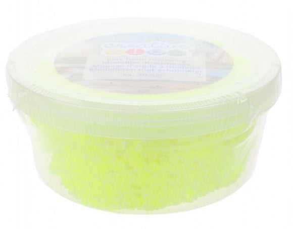 a photo of the product: Creative Kids schuimklei neon 38 gram geel per potje