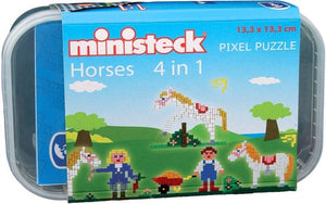 a photo of the product: Ministeck paarden-box 4-in-1 500-delig