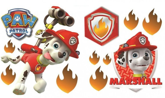 a photo of the product: Nickelodeon muurstickers Paw Patrol Marshall 2 stickervellen