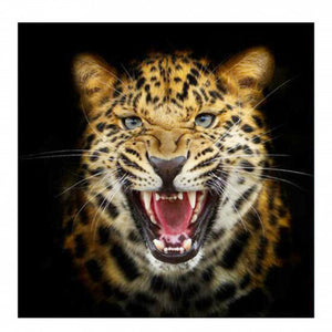 a photo of the product: Toi-Toys diamond painting Panter junior 30 cm canvas wit/bruin