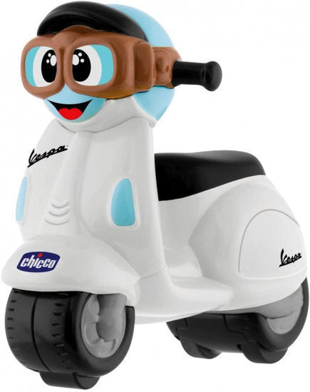 a photo of the product: Chicco speelgoedmotor Vespa Primavera junior wit