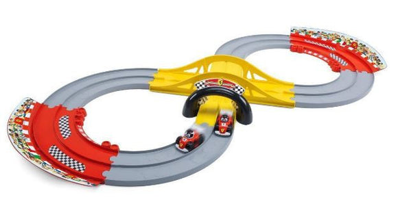 a photo of the product: Chicco racebaan Ferrari junior 140 x 60 cm rood 11-delig