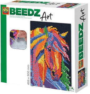 a photo of the product: SES strijkkraalkunstwerk Beedz Art paard 45,5 x 30 cm 9-delig