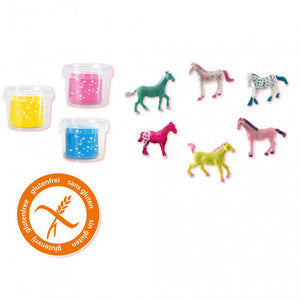 a photo of the product: SES Creative speelkoffer glitter paardenwereld