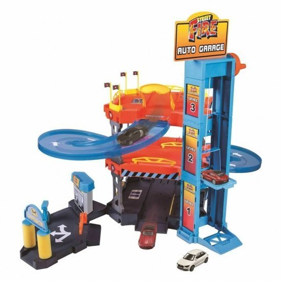 a photo of the product: Bburago autogaragespeelset Street Fire 1:43 multicolor