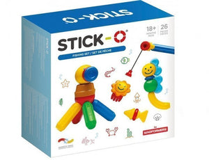a photo of the product: Stick-O magnetische bouwset vissen 26-delig multicolor