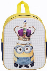a photo of the product: Minions 3D rugzak King Bob geel/blauw 31 x 27 x 10 cm